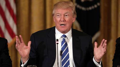 El presidente de EE.UU., Donald Trump, en la Casa Blanca, Washington, el 7 de marzo de 2017.