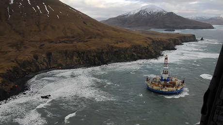 El taladro Kulluk en Alaska, EE.UU.