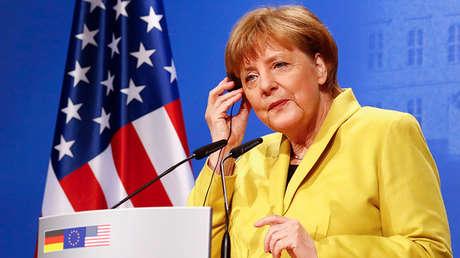 La canciller de Alemania, Angela Merkel, en Hannover, el 24 de abril de 2016.