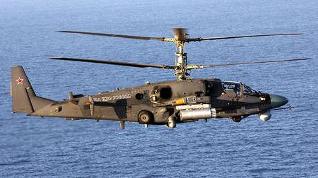 El helicóptero Ka-52K.