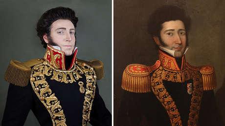 Juan Bautista Eléspuru, prócer independentista, retratado por el célebre pintor peruano José Gil de Castro, nacido en el siglo XVIII