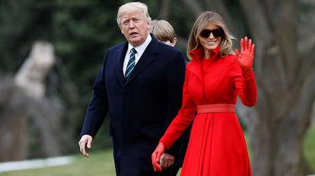 El presidente de EE.UU., Donald Trump, y su esposa Melania en Washington, el 17 de marzo de 2017.