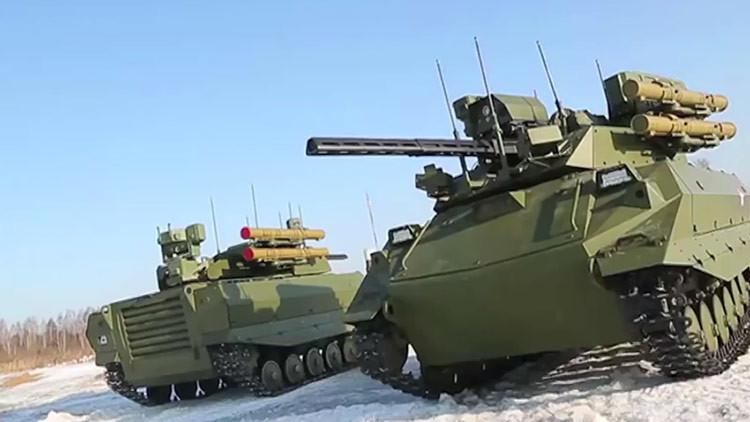 Poder aplastante no tripulado: las pruebas del robot ruso de combate Uran-9 (VIDEO)