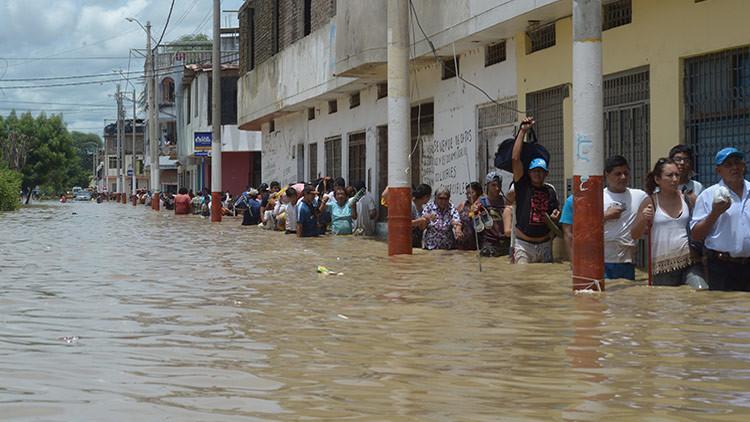 Una imagen satelital muestra el nivel catastrófico de las inundaciones en el norte del Perú
