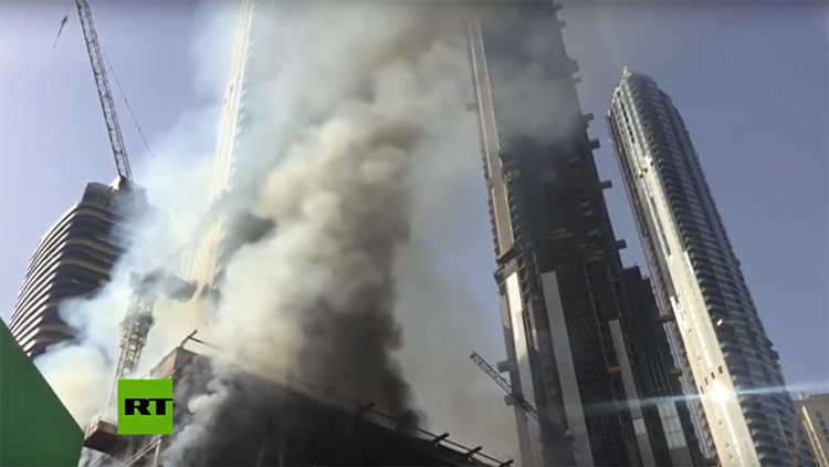 Gran incendio en el centro de Dubái (FOTOS, VIDEOS)