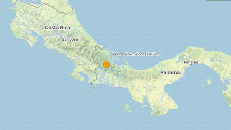Sismo de 5,3 en el oeste de Panamá en la frontera con Costa Rica