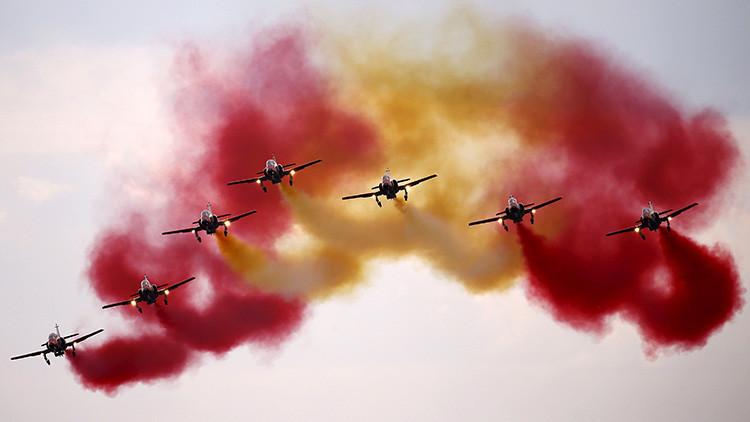 El grupo acrobático Patrulla Águila española incorpora a su primera mujer piloto