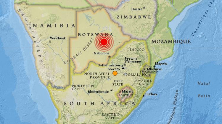 Un terremoto de 6,5 sacude Botsuana