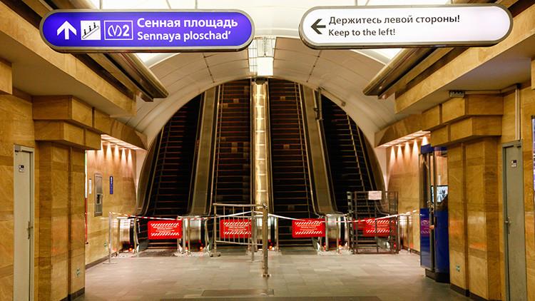 San Petersburgo: Cierran una estación de metro por un objeto sospechoso