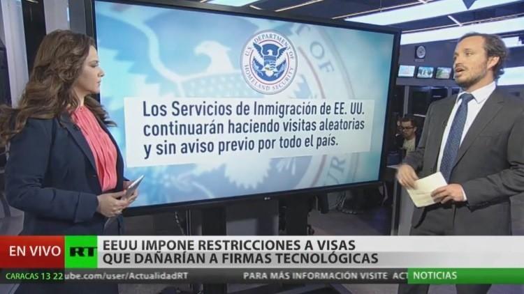 EE.UU. impone restricciones a visados que podrían dañar a empresas tecnológicas