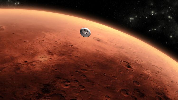 FOTO: La NASA revela imágenes de un extraño cráter marciano