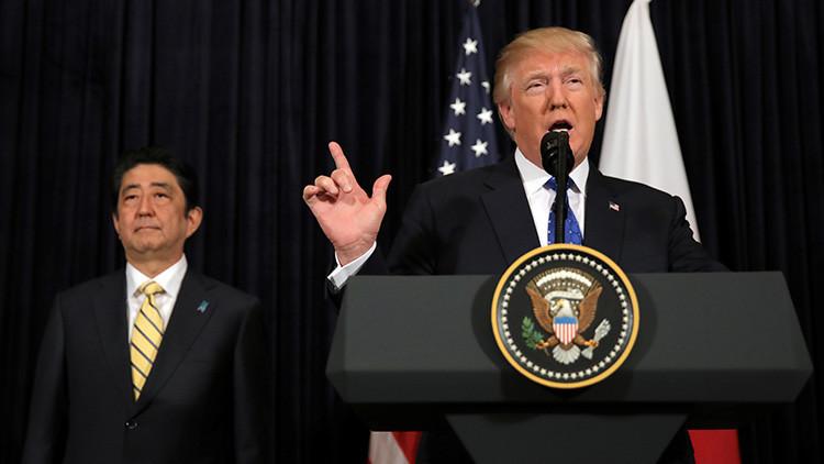 Shinzo Abe: Trump admite todas las opciones de respuesta frente a Corea del Norte