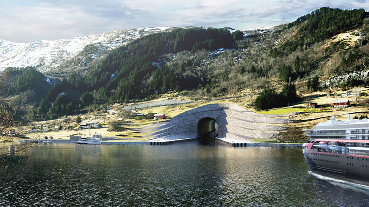 FOTOS: Así será el primer túnel marítimo del mundo para barcos grandes