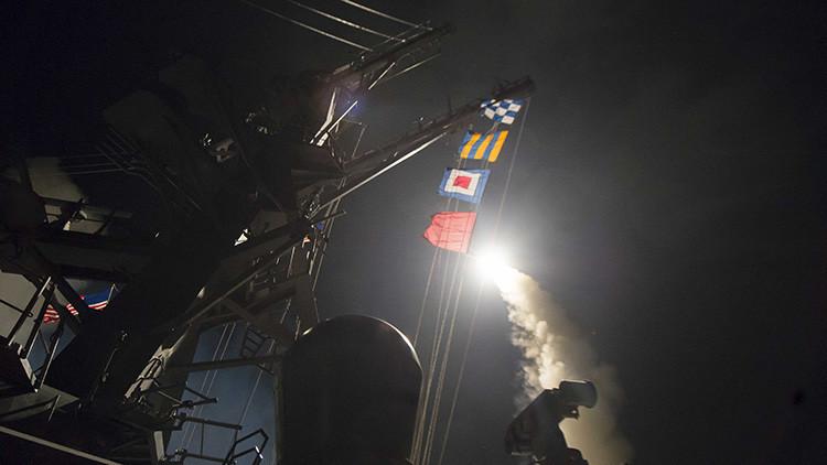 Las primeras imágenes del lanzamiento de misiles de EE.UU. a una base siria