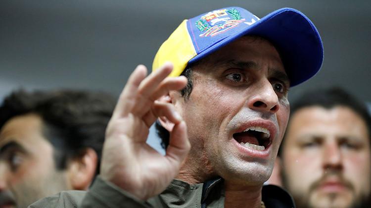 Inhabilitan por 15 años en Venezuela a opositor Henrique Capriles