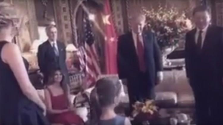 La nieta de Trump le canta a Xi Jinping en chino