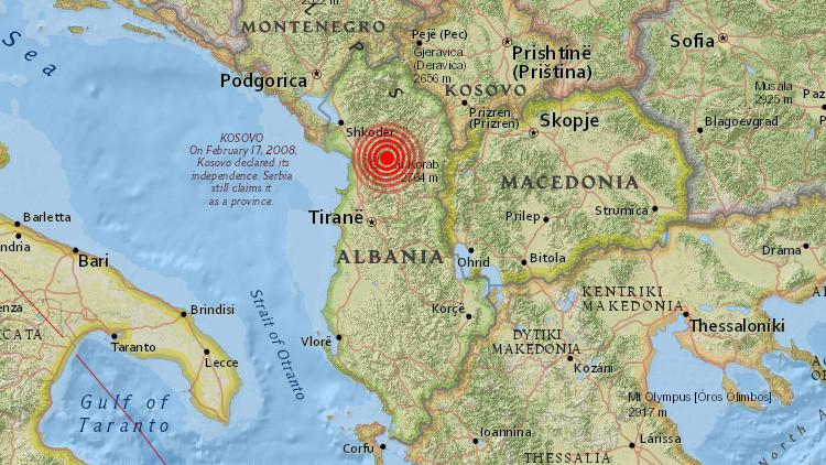 Un terremoto de magnitud 5,0 sacude Albania