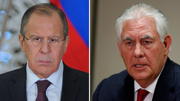 Serguéi Lavrov habla con Rex Tillerson tras el ataque de EE.UU. a Siria