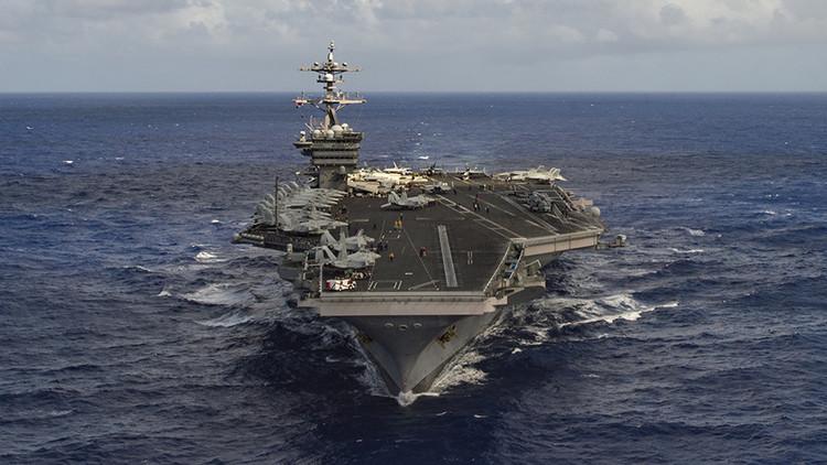 Un portaviones de EE.UU. y su flota de ataque se dirigen hacia la península coreana