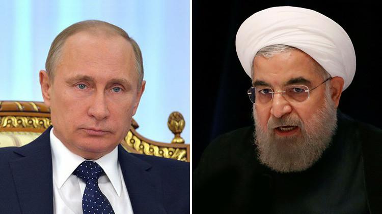 """Putin y Ruhaní consideran """"inadmisible"""" la agresión de EE.UU. contra Siria"""