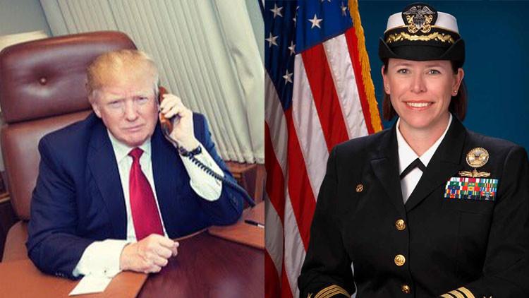 Trump felicita a la comandante de uno de los destructores que bombardearon la base en Siria