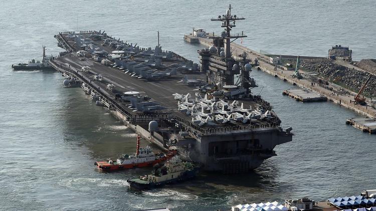 Portaviones de la Tercera Flota de EE.UU. navega por Asia por primera vez desde la II Guerra Mundial