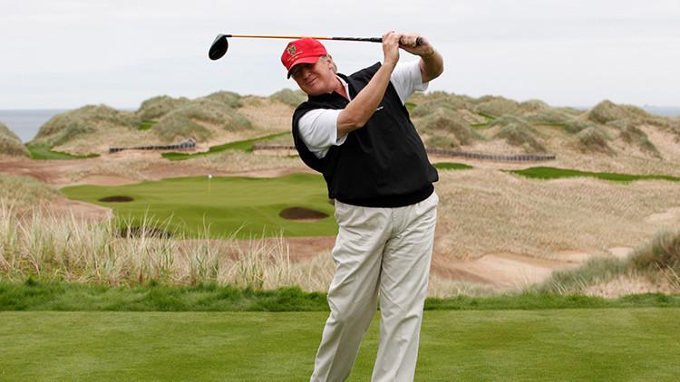 Donald Trump se dedica al golf los dos días posteriores al ataque a Siria