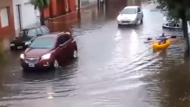 Un temporal en Mar del Plata causa fuertes inundaciones (Videos)