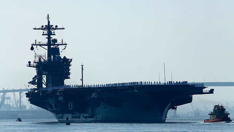 Revelan por qué el portaaviones de EE.UU. se desplaza hacia la Península de Corea
