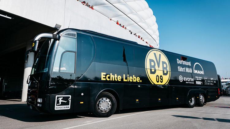 Se producen 3 explosiones cerca del autobús del Borussia Dortmund antes de un partido de Champions