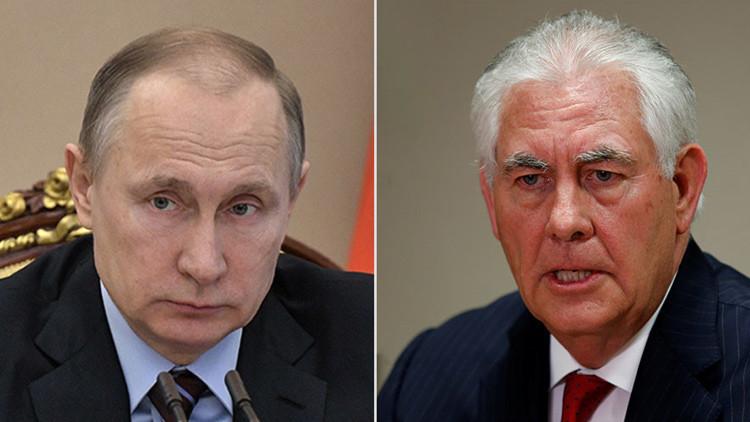 Kremlin: Putin se reúne con Tillerson en Moscú