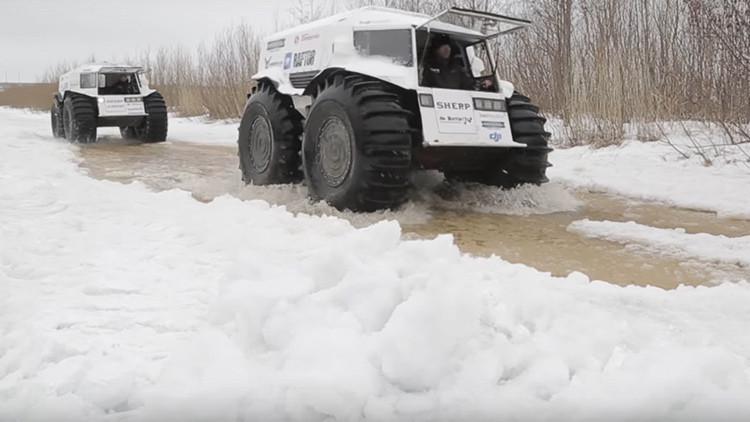 VIDEO: 'Monstruos' rusos todoterreno parten en una expedición de 10.000 kilómetros al Ártico