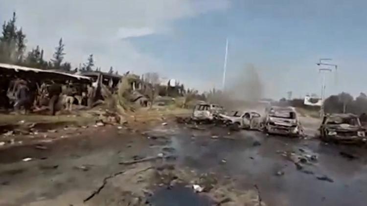 FUERTE VIDEO: Las secuelas de la explosión que mató a más de 70 personas cerca de Alepo