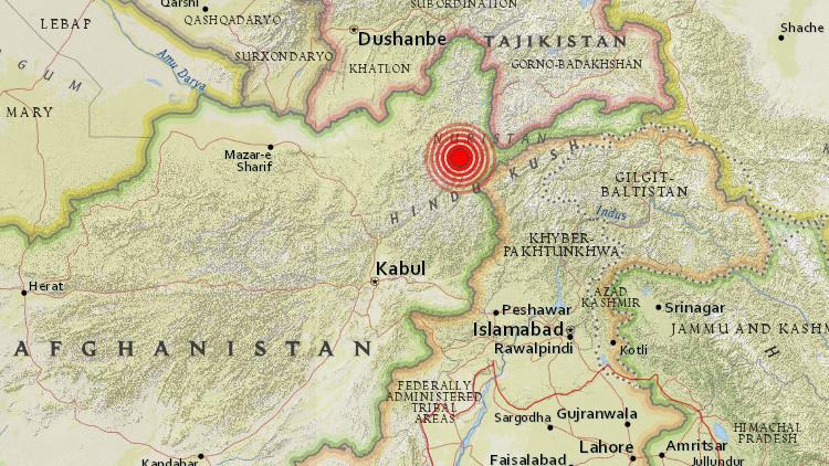 Un sismo de magnitud 5,9 sacude Afganistán