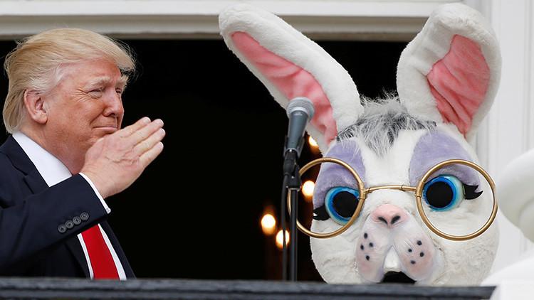 La Red se llena de burlas sobre el conejo de Pascua de la Casa Blanca