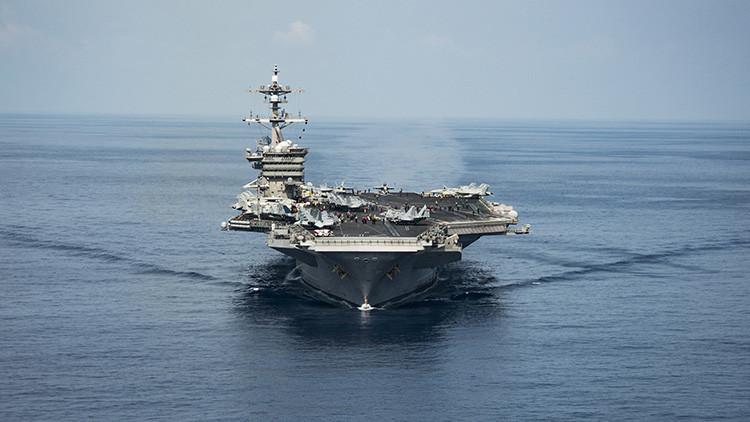 El portaaviones Carl Vinson y su flota de ataque 'se pierden' camino de la Península coreana