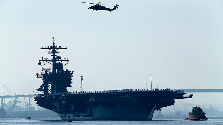 ¿Dónde se encuentra realmente el portaaviones con el que EE.UU. quiere intimidar a Pionyang?