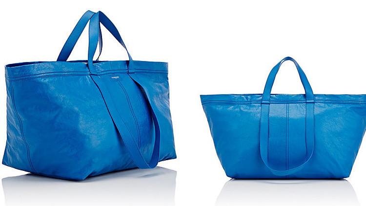 99 centavos vs 2.145 dólares: Balenciaga lanza su propia 'versión' de la icónica bolsa de Ikea