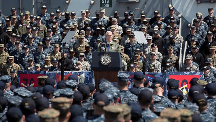 """Vicepresidente de EE.UU. avisa a Kim Jong-un: """"La espada está preparada"""""""