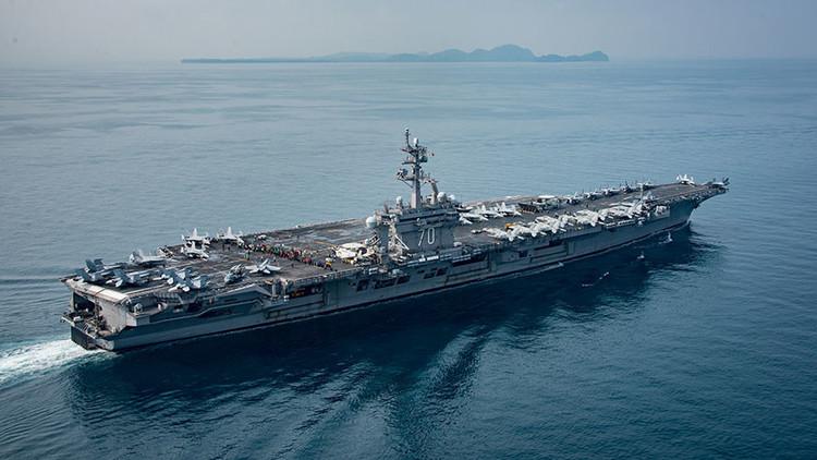 La Casa Blanca se justifica: El portaviones de EE.UU. se dirige hacia Corea del Norte (ahora sí)