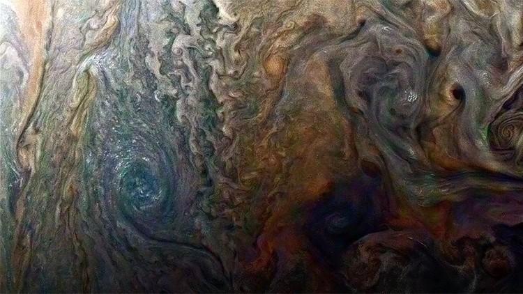 La hermosa 'piel' de Jupiter en primer plano  (FOTO)