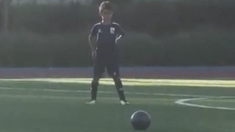 El hijo de Cristiano Ronaldo anota un gol espectacular