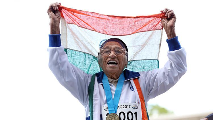 Video: Una mujer india de 101 años vence en los 100 metros lisos