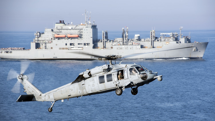 Un helicóptero militar estadounidense se estrella cerca de Guam