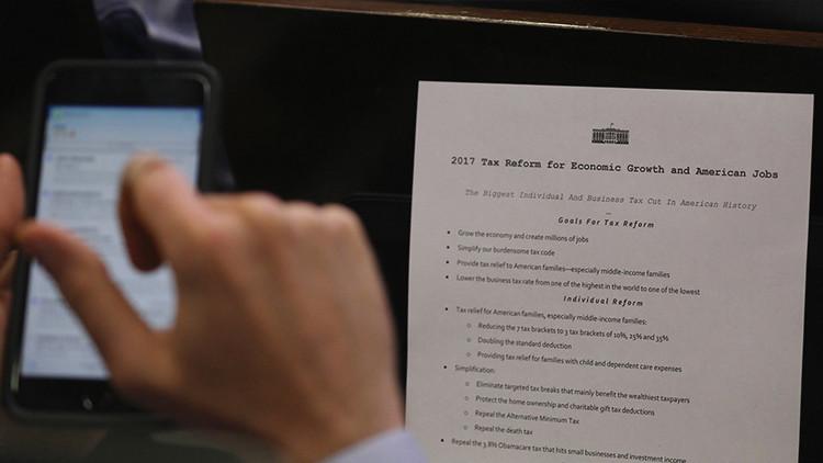 El plan de Trump del 'mayor recorte fiscal en la historia' genera críticas