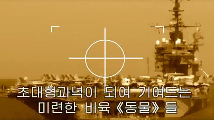 Pionyang 'bombardea' la Casa Blanca y portaviones de EE.UU. en un nuevo video propagandístico