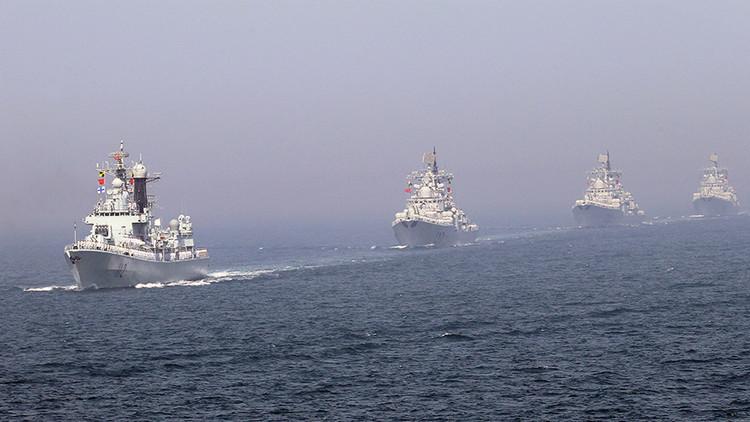 Militares chinos se disculpan por incluir equipo militar extranjero en una foto de su Marina