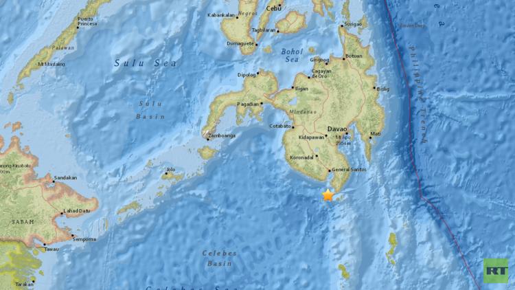 Un terremoto de magnitud 6,8 sacude Filipinas