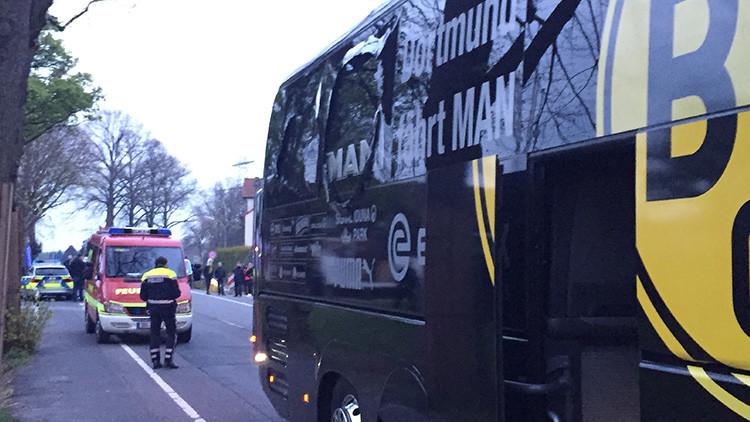 Se producen 3 explosiones cerca del autobús del Borussia Dortmund