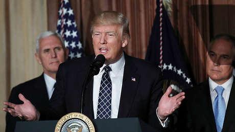 El presidente de Estados Unidos, Donald Trump, en Washington, el 28 de marzo de 2017.